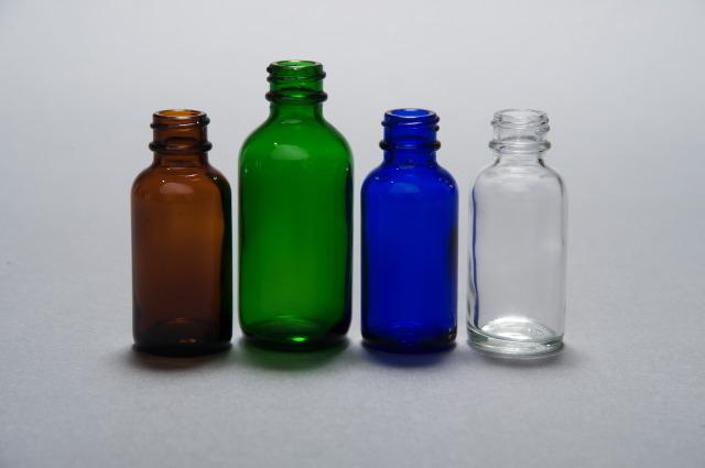 4oz Cobalt Blue Boston Round Glass Bottle 24 400 Bottles