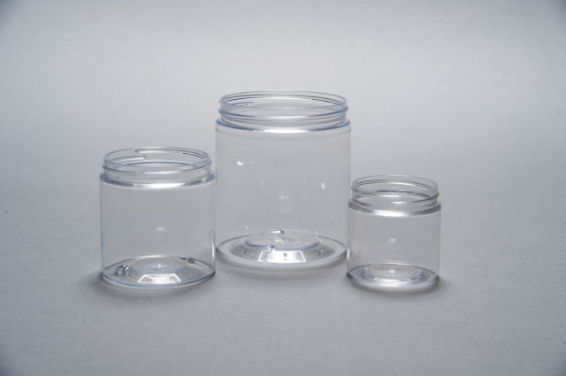 8oz / 250ml Clear PET Wide Mouth Jar 70/400